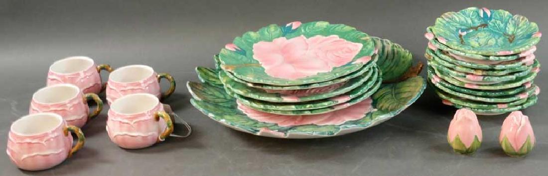 Italian Pottery Dinnerware Rose Motif