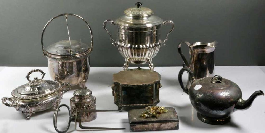 Large Collection Silverplate Hollow Ware
