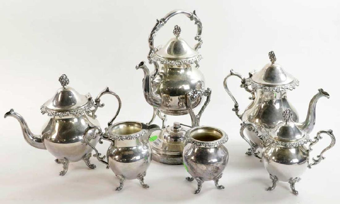 Six Piece Silverplate Tea Service