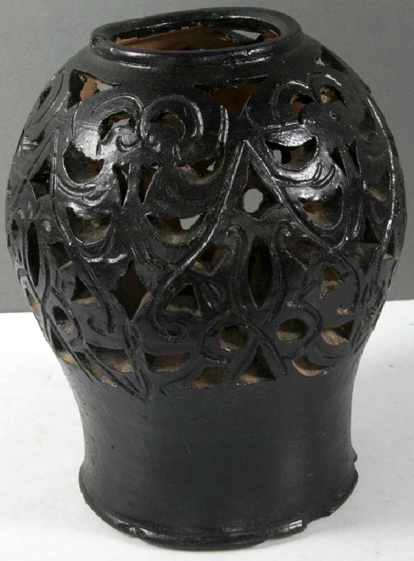 Chinese Reticulated Terra Cotta Vase