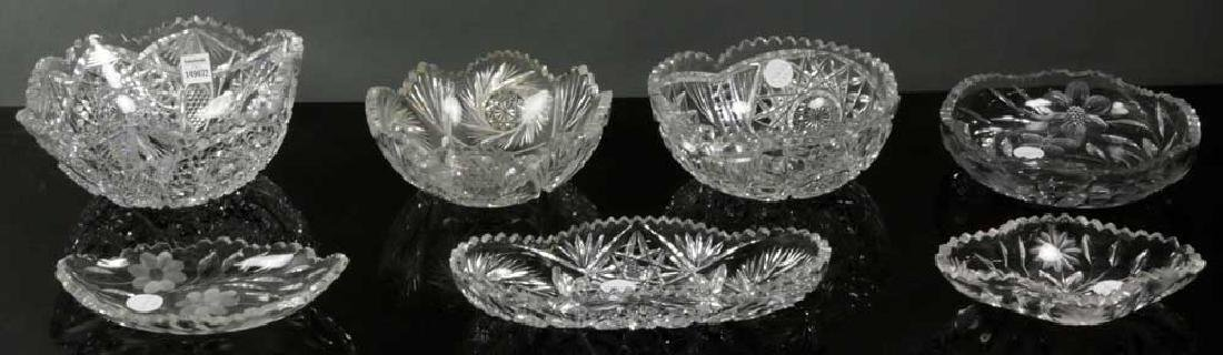 Collection of Cut Glass Bowls and Dishes
