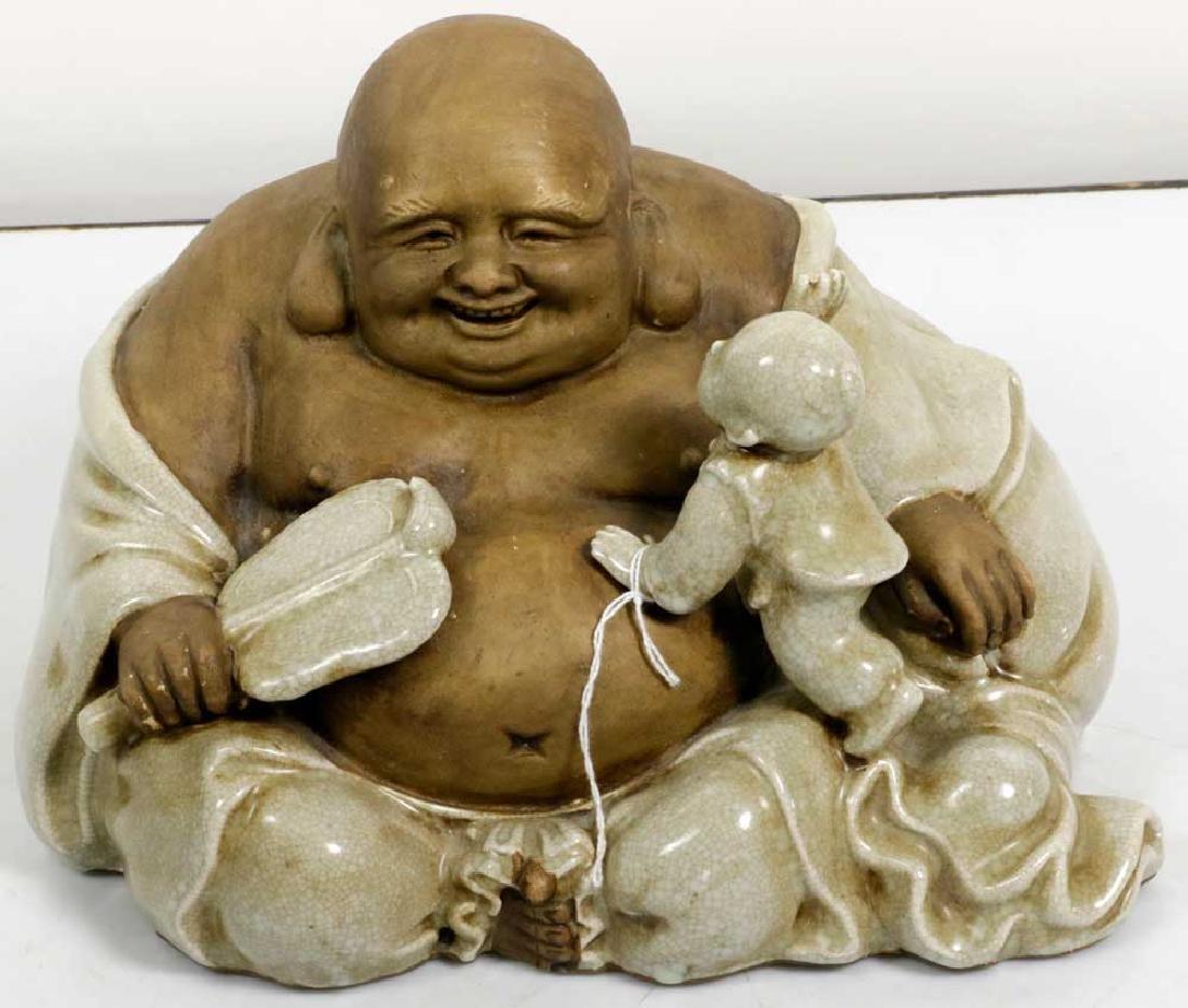 Japanese Stoneware Buddha