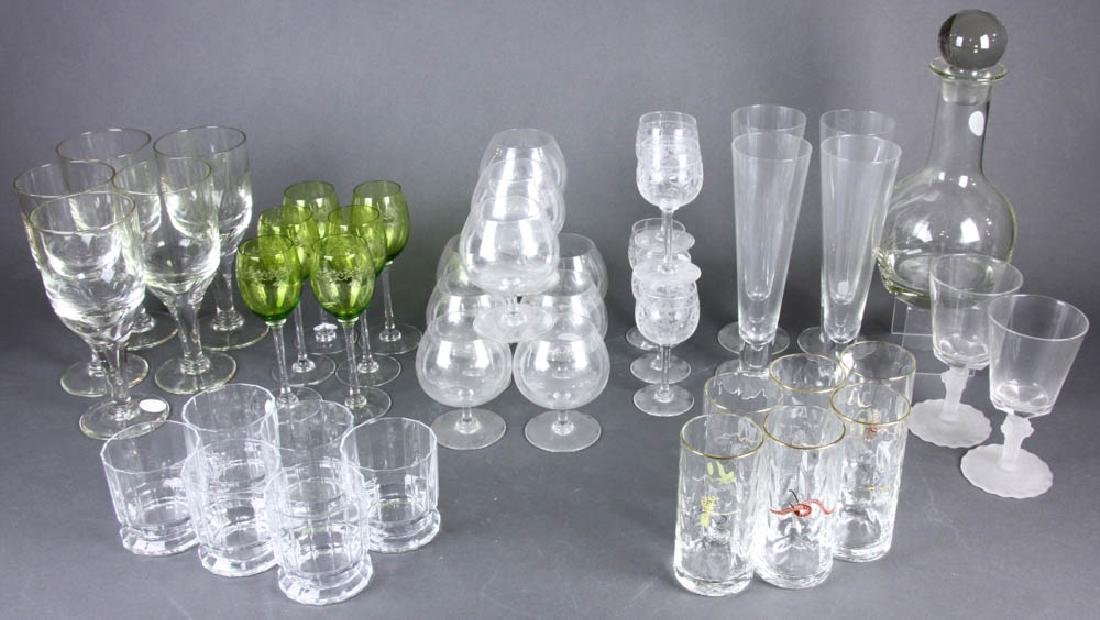 Grouping of Miscellaneous Glass Stemware