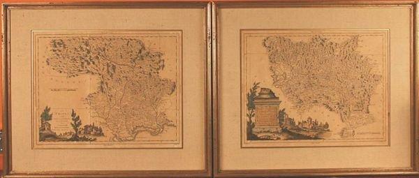 1: Pair of 20th C. Decorative Maps