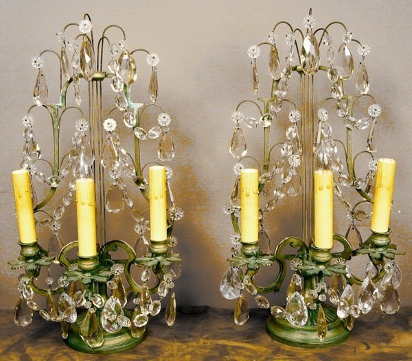 9: Pair of Early 20th C. French Girandoles