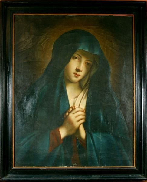 19: 19th/20th C. Italian, Blessed Mother, O/C