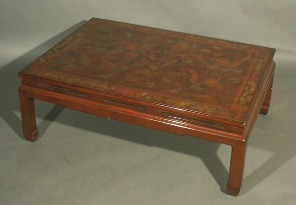 23: 20th C. Chinese Paint-Decorated Low Table