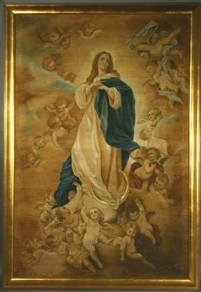 1001: 20th C. Religious Painting, Oil on Canvas