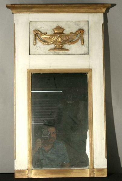 1017: 20th C. Mirror w/ Plaster Panel Relief