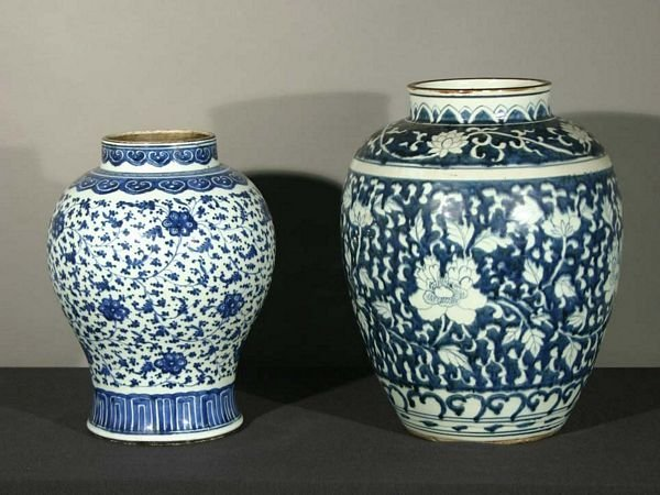1019: Two 19th C. Blue and White Chinese Jars