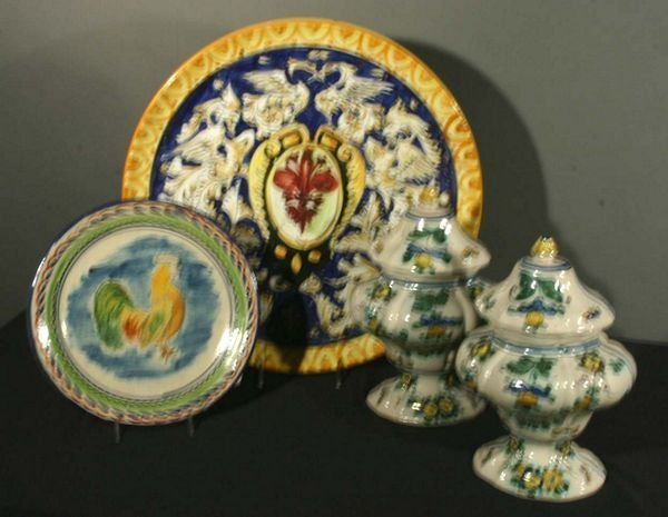 1020: Collection of Four (4) 19th/20th C. Majolica Piec