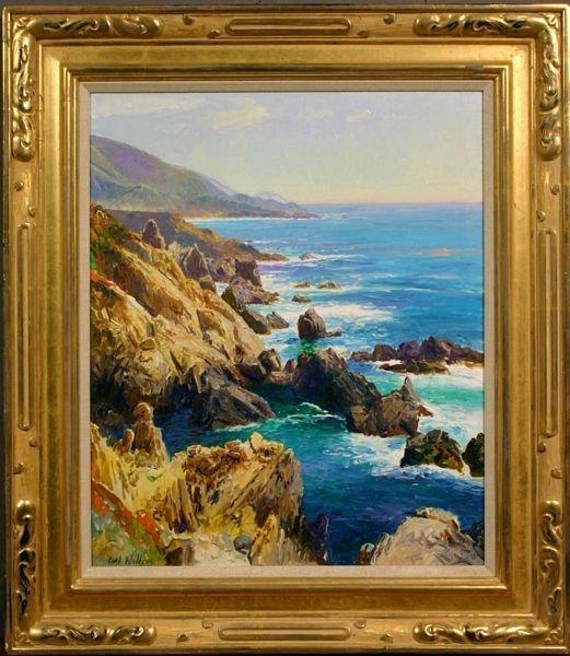 1318: Signed Curt Walters, Pacific Coastline, O/C