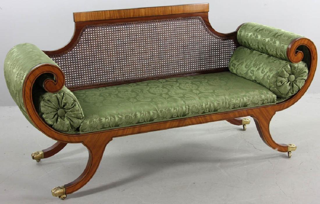 Regency Style Mahogany Settee