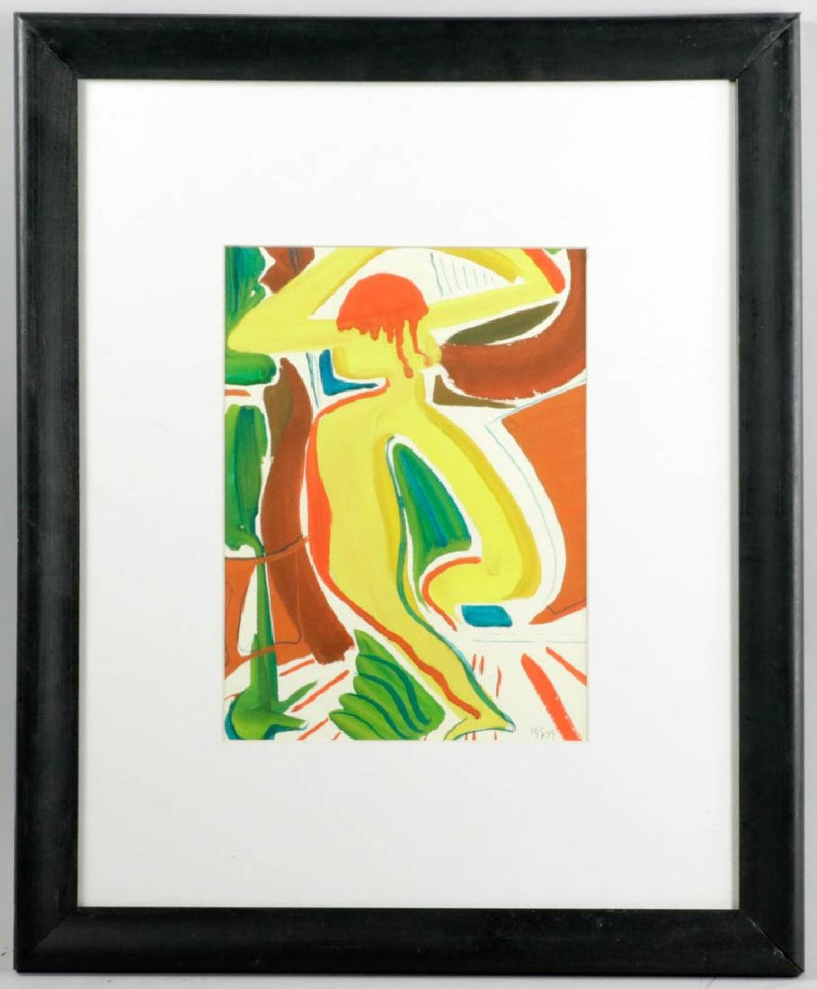 Jane Downs Carter Signed Watercolor
