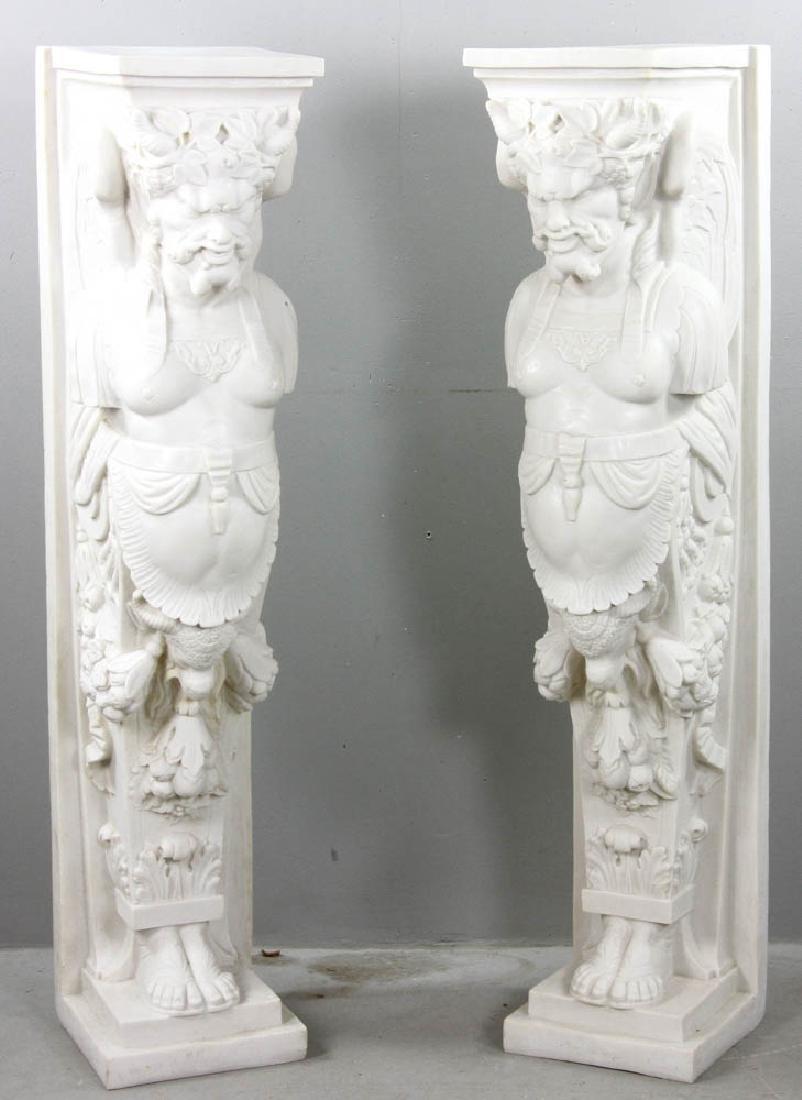 Pair of Neoclassical Style Caryatids