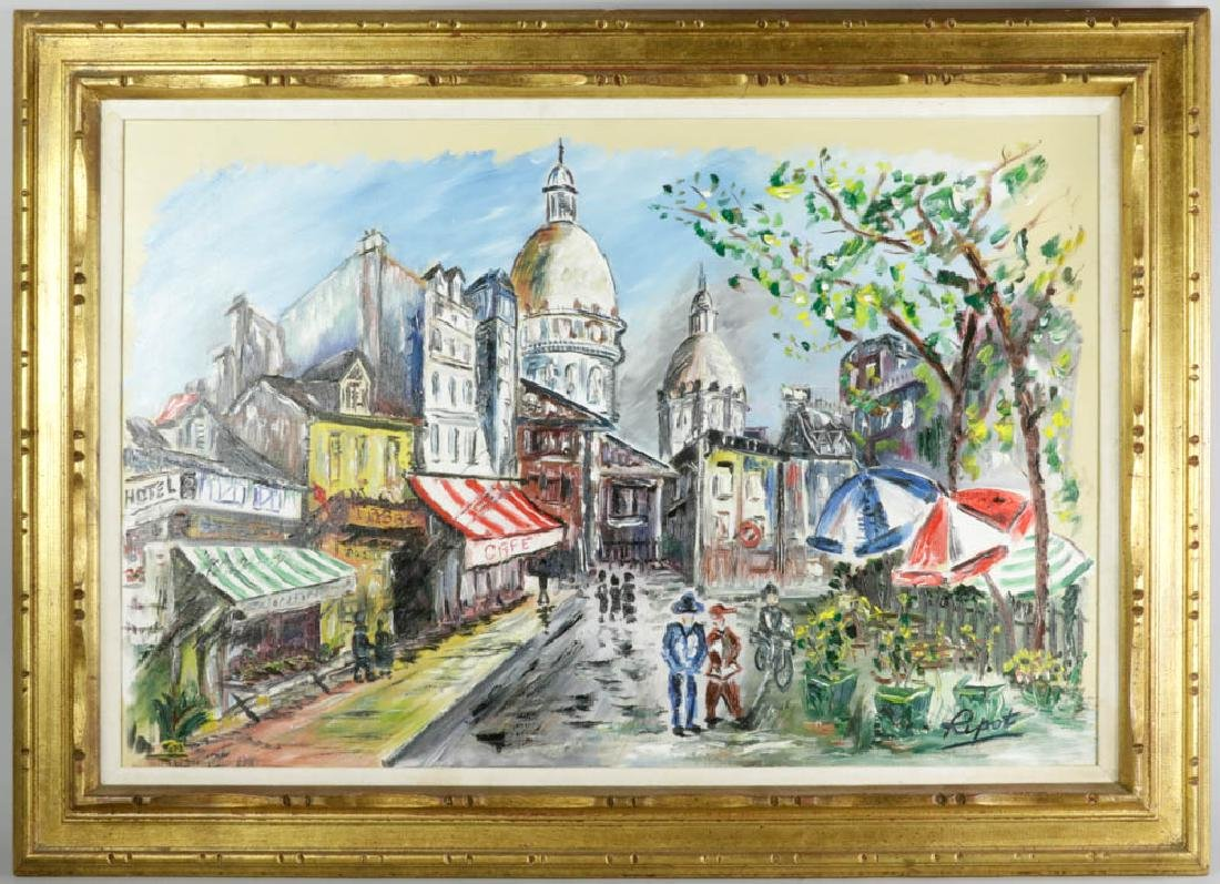 Ripot Oil on Canvas Paris Street Scene