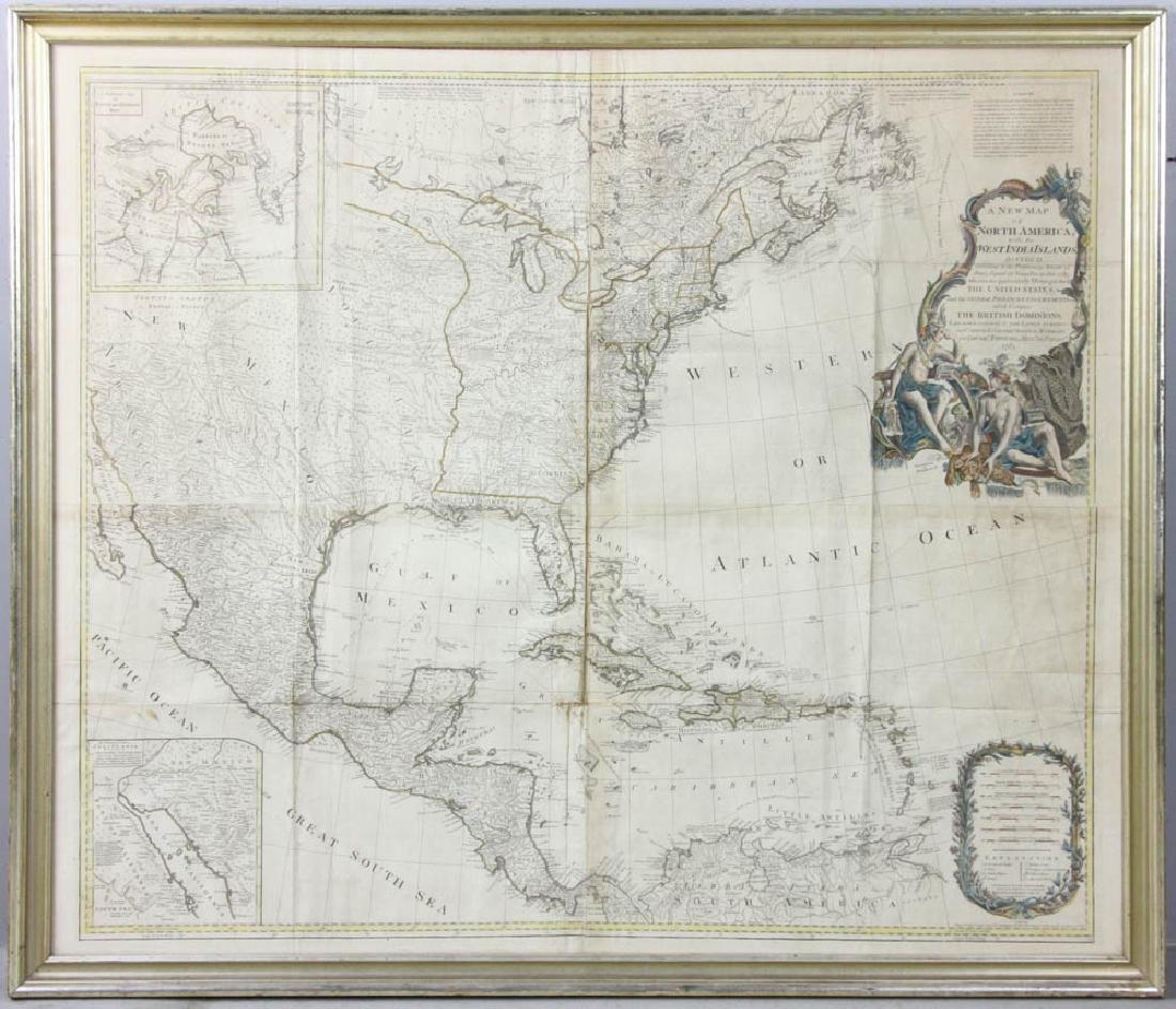 Map of North America and West Indies, 1783