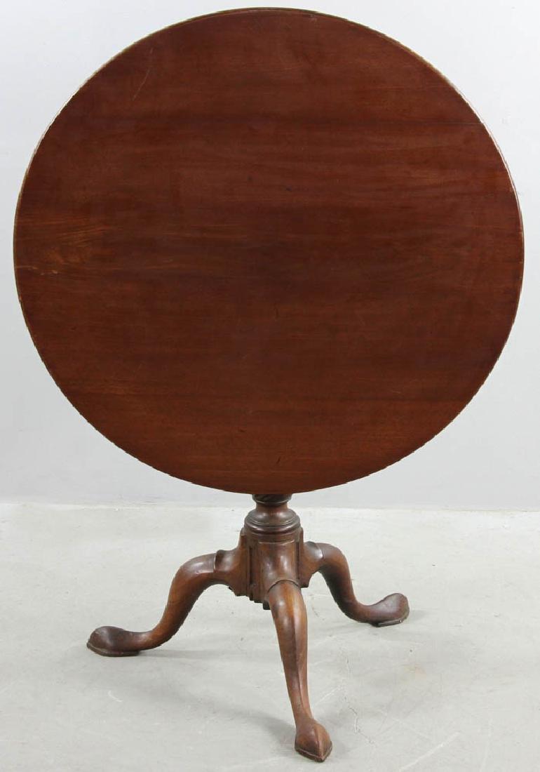 18thC Queen Anne Mahogany Tilt Top Table