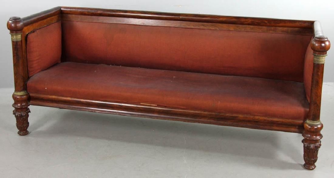 Early 19thC American Mahogany Box Sofa