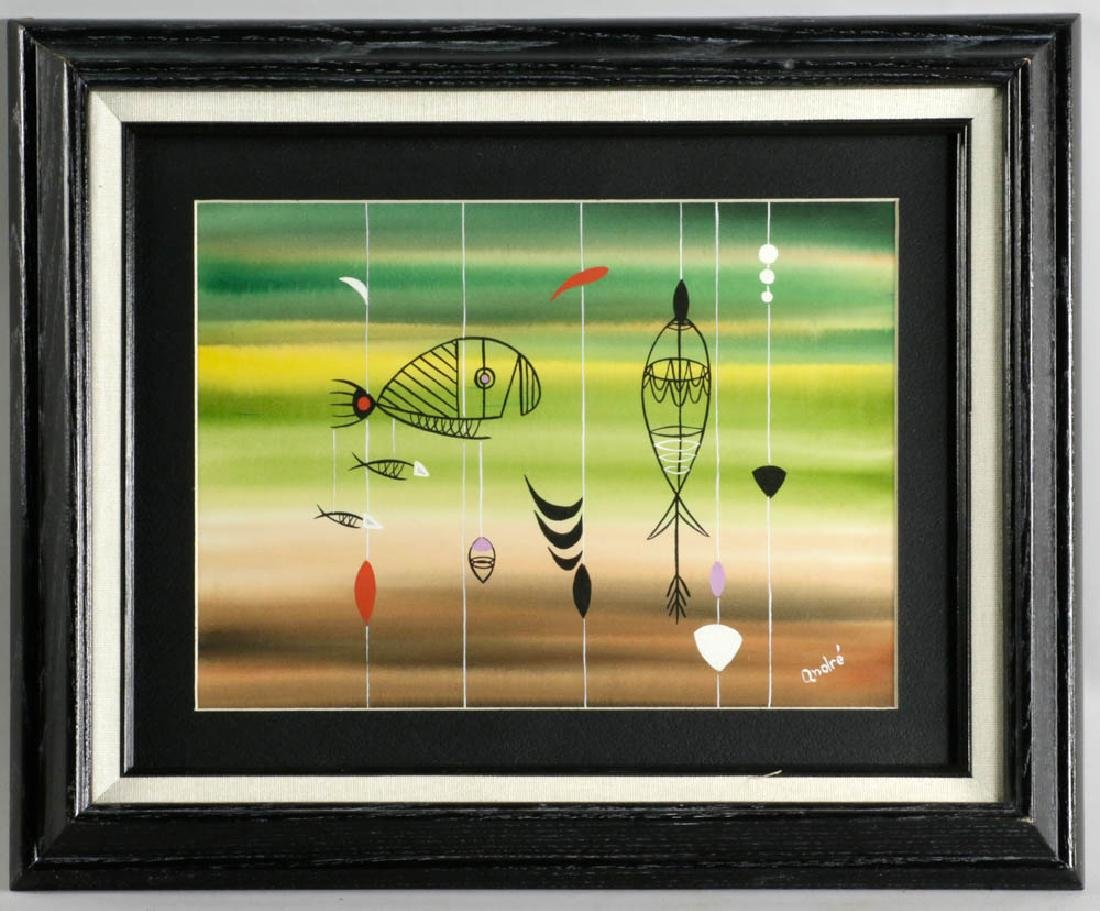 Andre Signed Surreal Watercolor