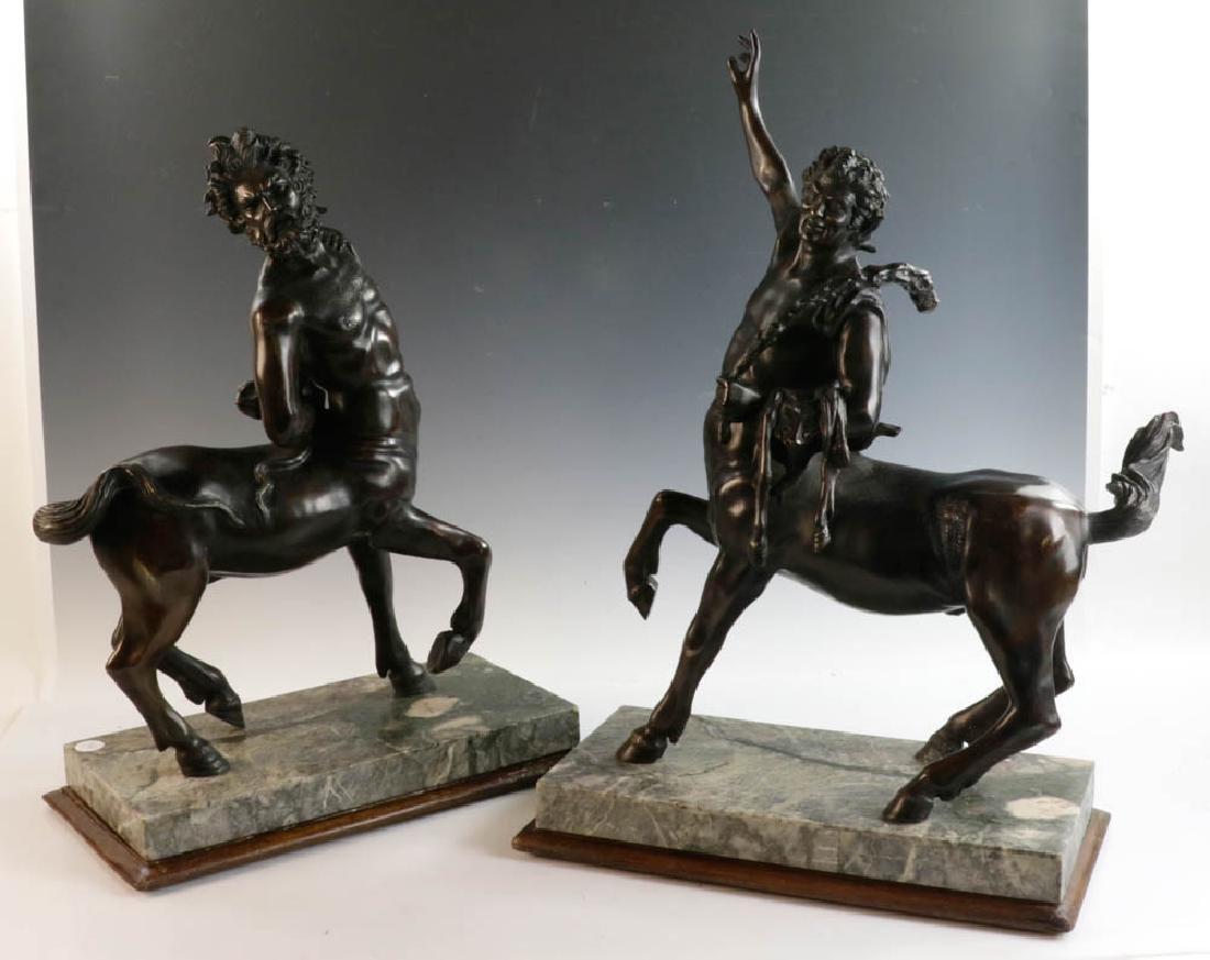 Set of Two Italian Bronze Centaur Sculptures
