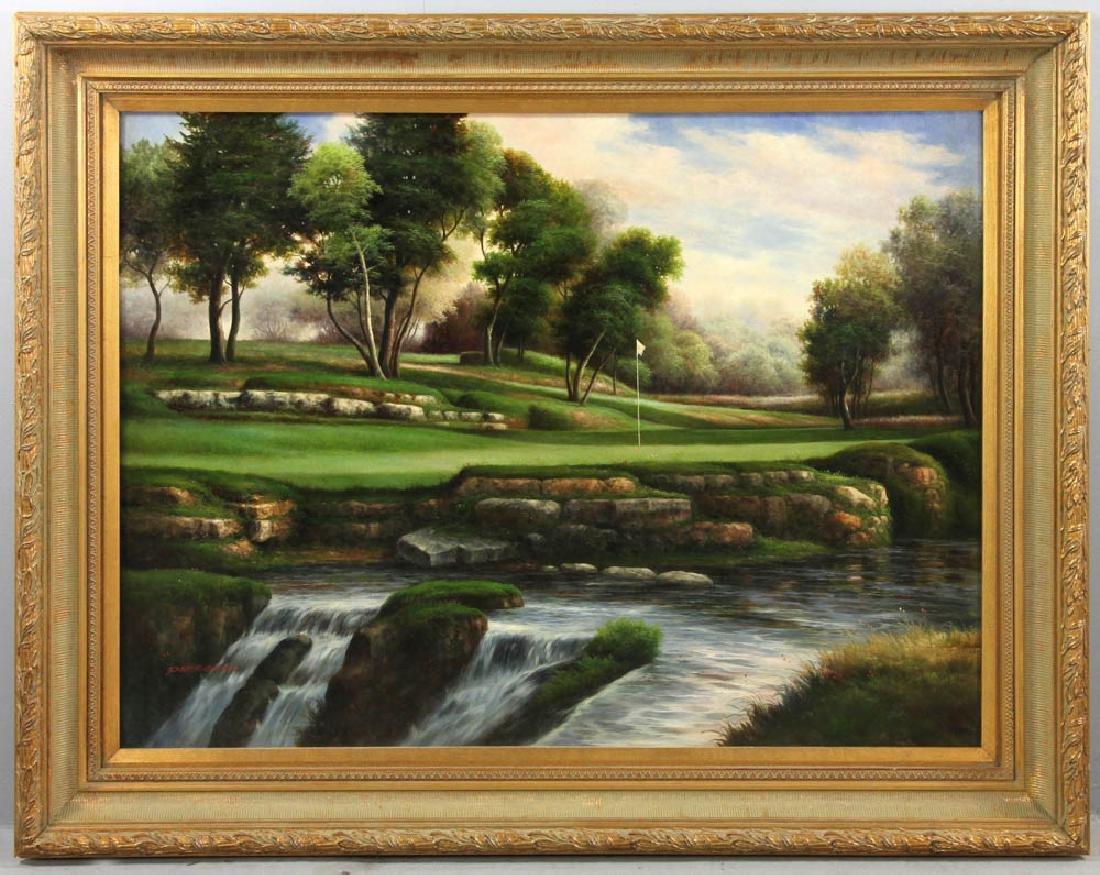 Signed Peter Green, Large Landscape Oil on Canvas