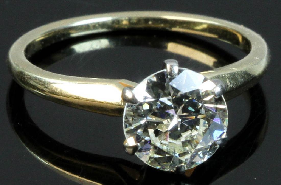 Ladies 14k Gold Solitaire Diamond Ring