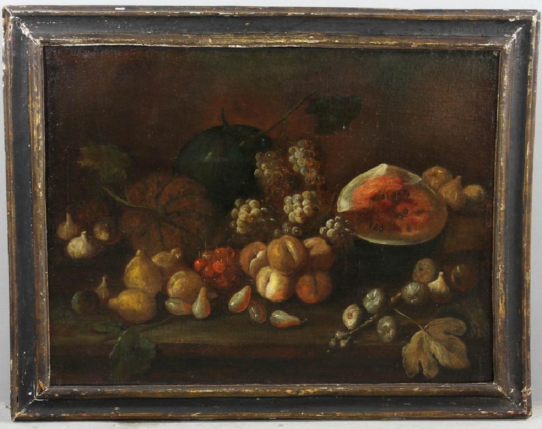 18thC Italian Still Life, Oil on Canvas