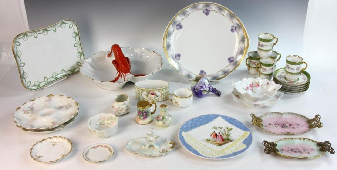 Antique Limoges and Dresden Dishware