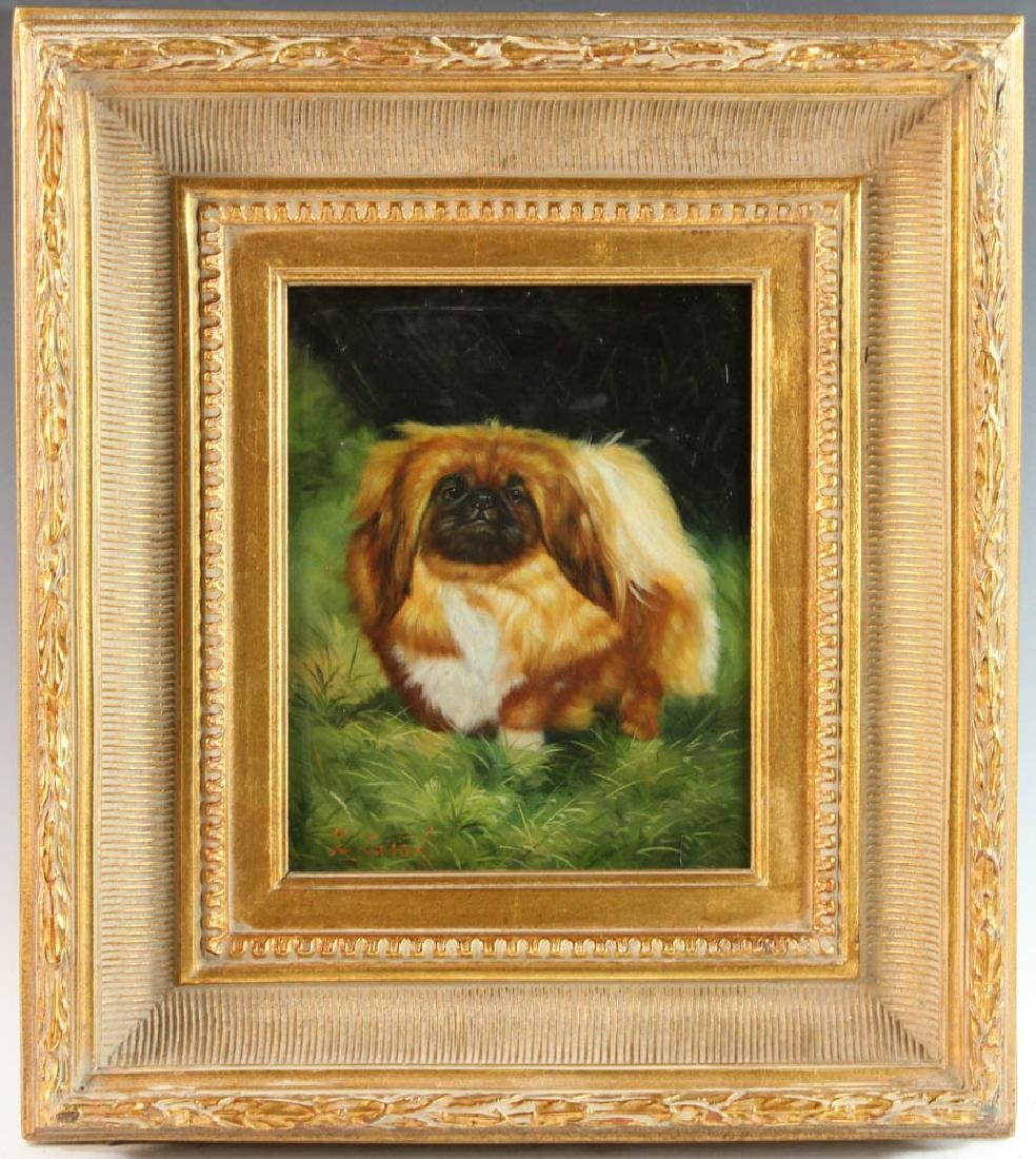 Cassidy, Pekingese, Oil on Board
