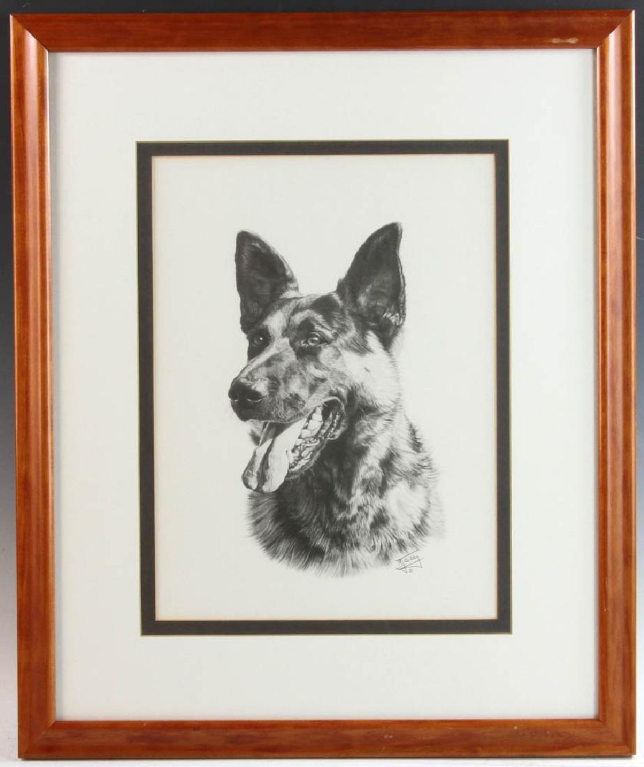 Signed Sibley Print of German Shepherd