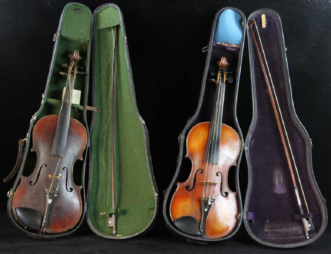 Two Violins and Two Bows