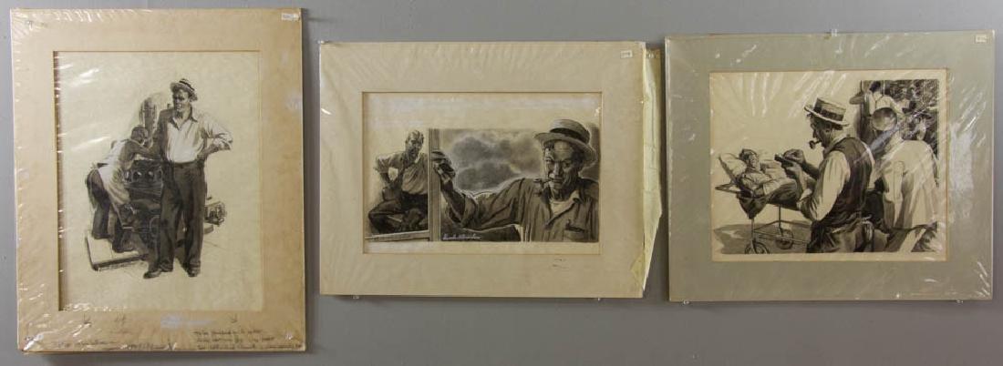Earle B. Winslow Three Illustrations