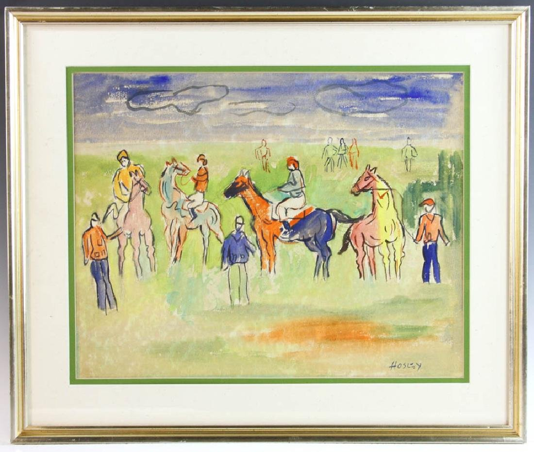 Hosley Equestrian Riders Watercolor