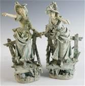 Late 19thC Bohemian Porcelain Figures