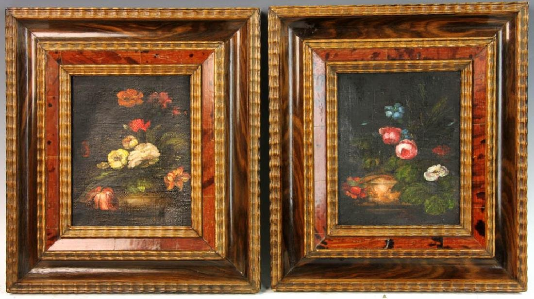Pair of Still Life Floral Paintings