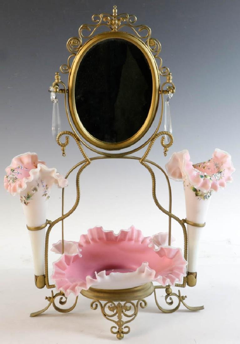 Late 19thC Victorian Dressing Table Mirror