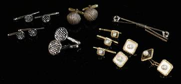 Gold and Sterling Cufflink Sets