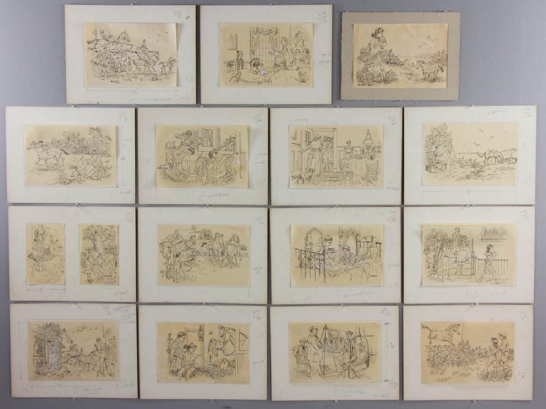 Earle B. Winslow National Velvet Drawings