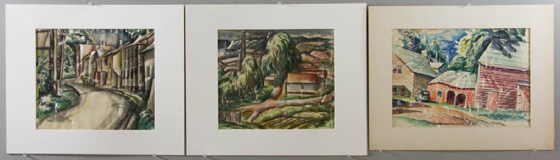 Earle B. Winslow Three Watercolors