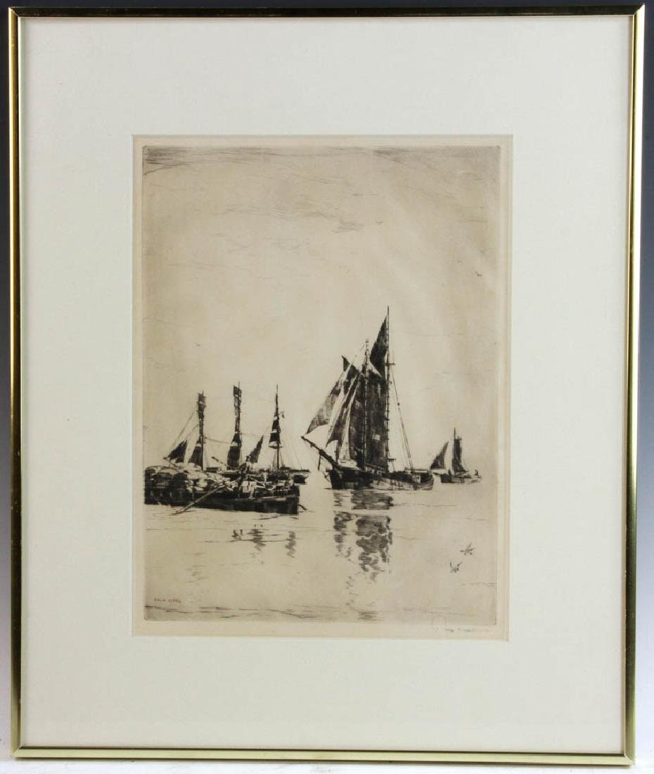 Philip Cappel Signed Etching of Boats