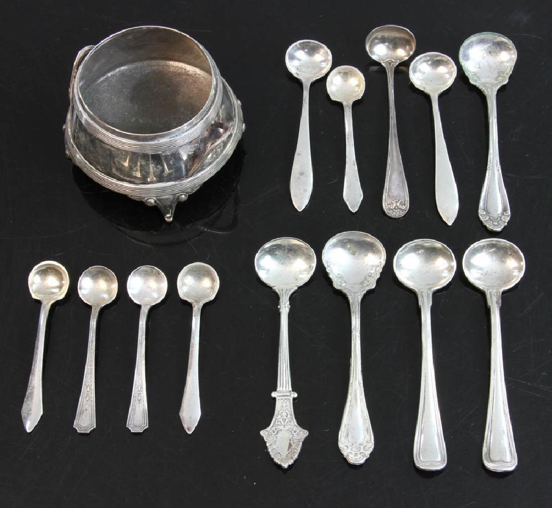 Gorham Sterling Salt with Salt Spoons