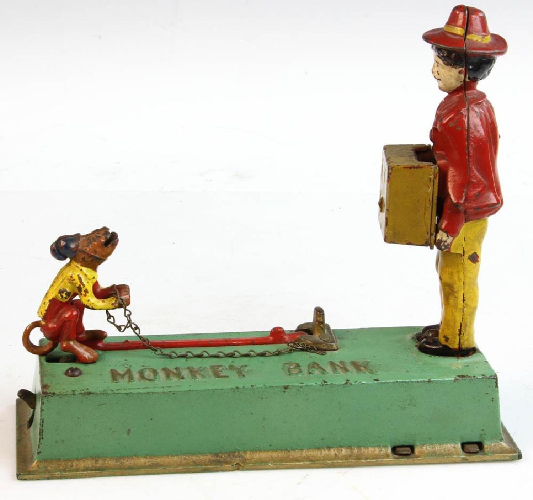 Vintage Cast Iron Monkey Bank