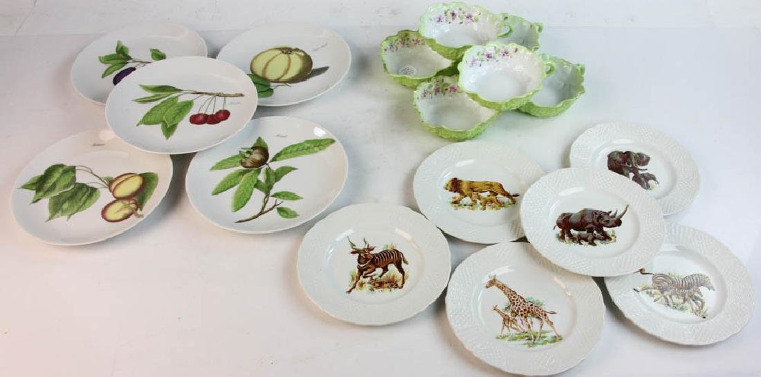 Group of German and English Plates, Cups