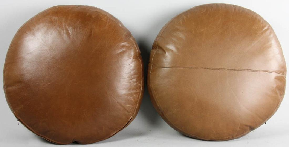 Pair of Leather Cushions