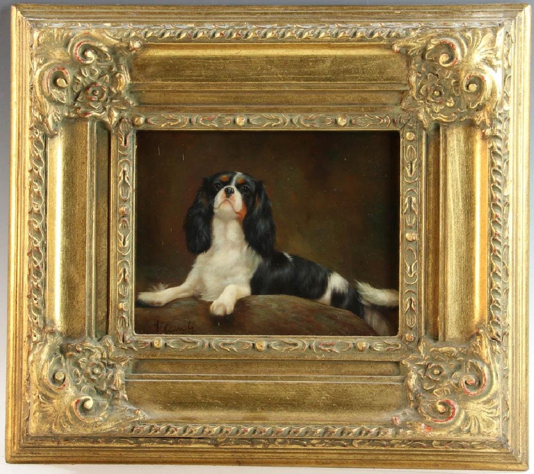 Cassidy, King Charles Spaniel, Oil on Board