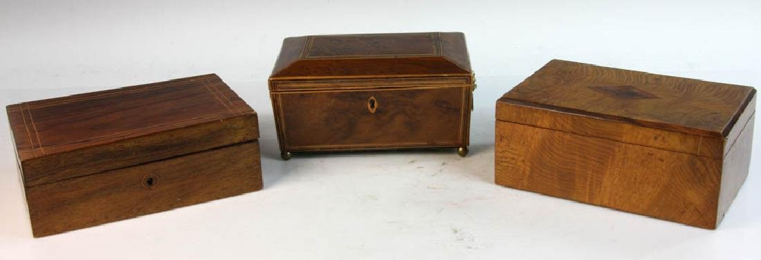 Antique Boxes and Tea Caddy