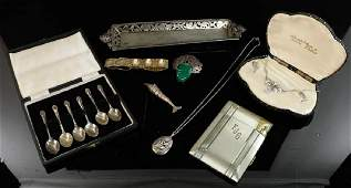 Eight Sterling Silver Items
