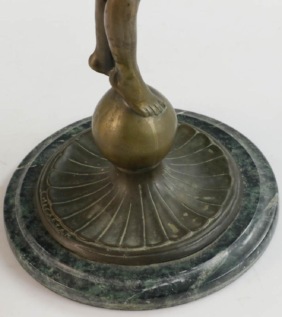 McCartan Art Nouveau Bronze Candlesticks - 6