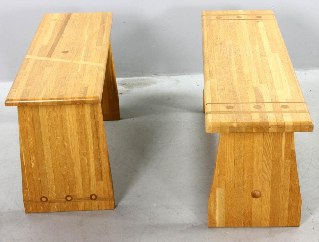 Two Pierce Furniture of Ipswich Benches - 2